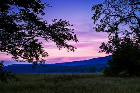 Cades Cove sunset