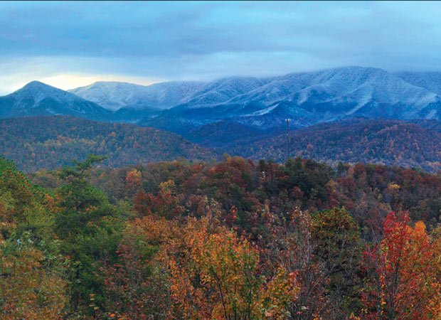 View from Poppe's Pinnacle cabin