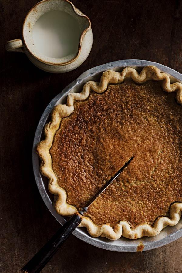 Buttermilk brown sugar pie