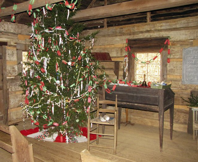Schoolhouse Decorated for Christmas.jpg