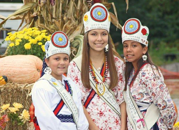 Crowning Miss Cherokee