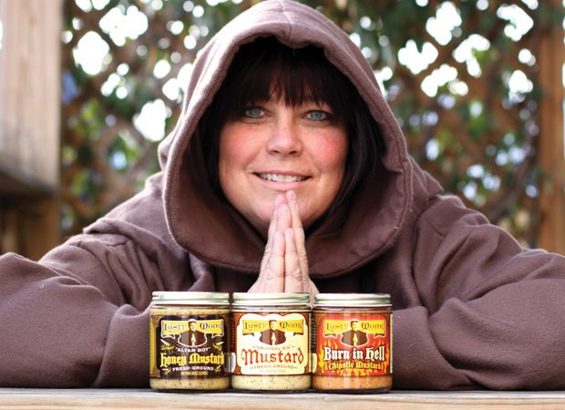 Kelly Davis, founder of Lusty Monk Mustards