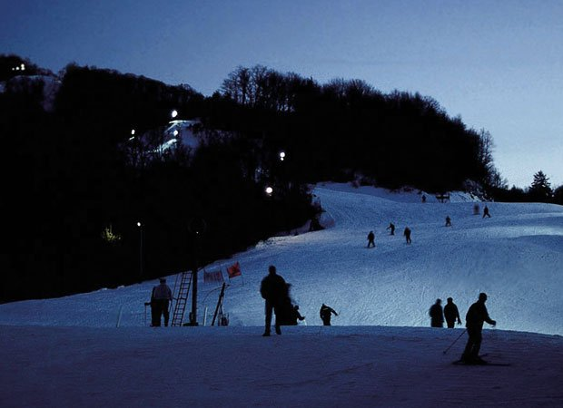 Night skiing at Cataloochee